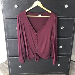 Burgundy Venus top size small